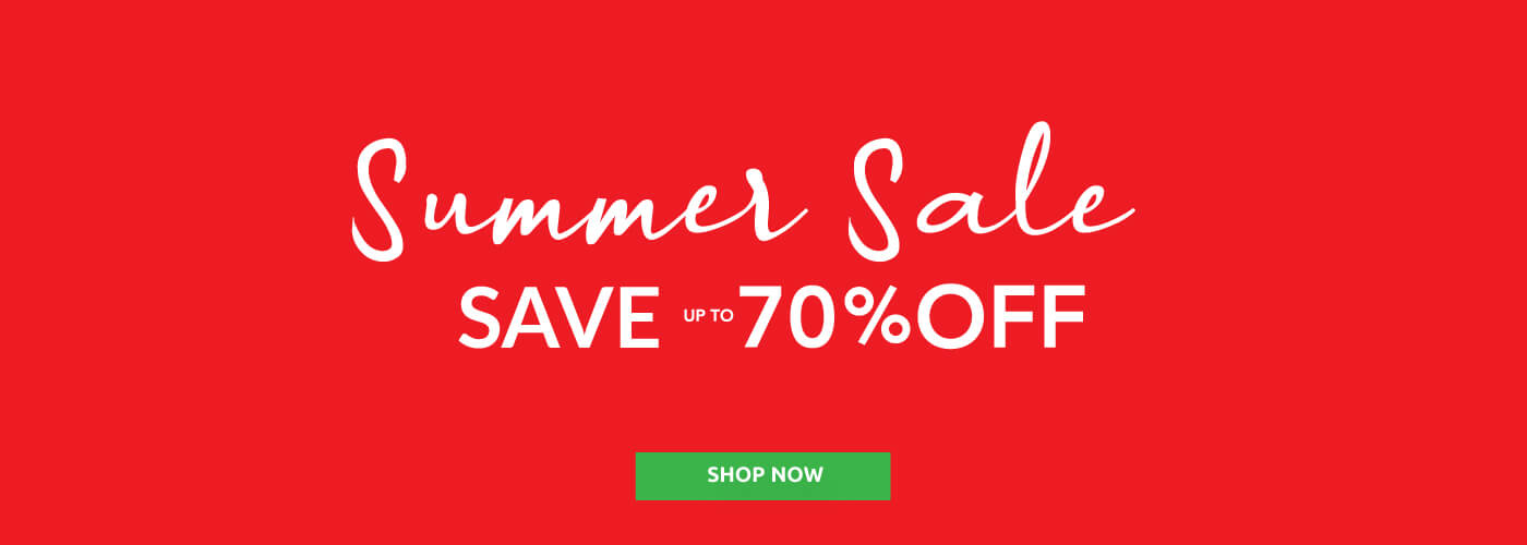 Summer sale, Save up to 70% OFF