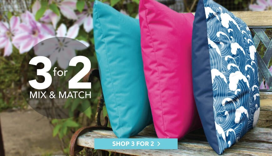 3 for 2 on cushions, floor cushions and cubes