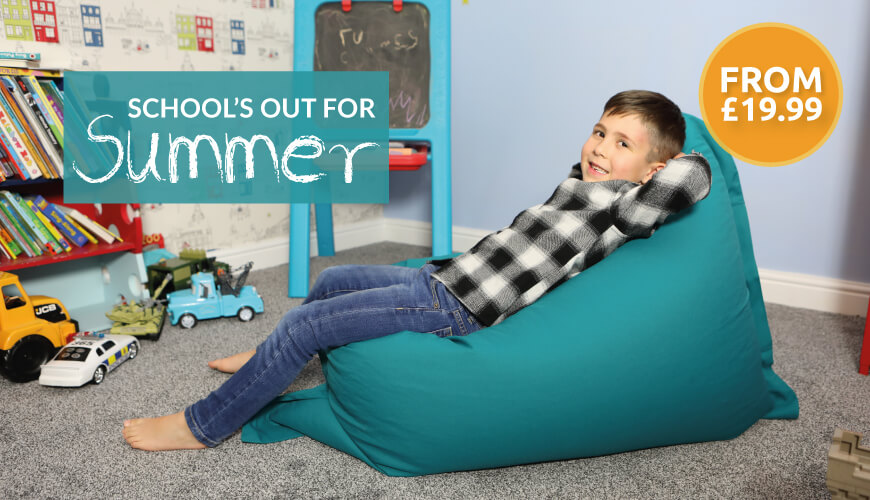 Get set for the school holidays with our range of kids beanbags