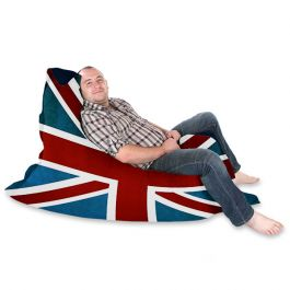 Royal Union Jack Printed Squarbie Bean Bag Rucomfy Beanbags