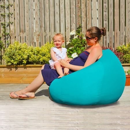 Slouchbag Indoor/Outdoor Beanbag in Turquoise