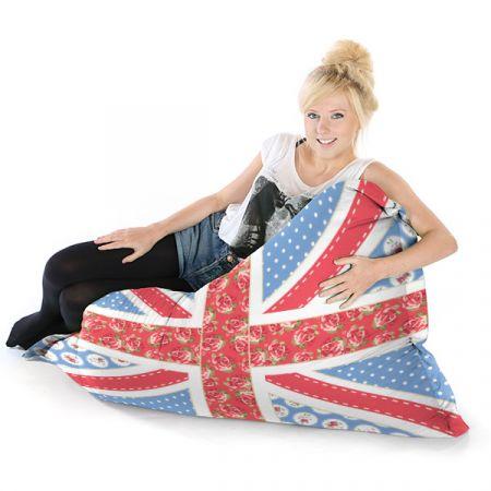 Chic Union Jack Squashy Squarbie Bean Bag