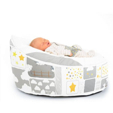 Luxury Cuddle Soft Counting Sheep Gaga© Baby Bean bags Side View