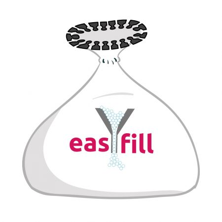 easYfill liner enables you to transfer and store your bead while you wash your cover