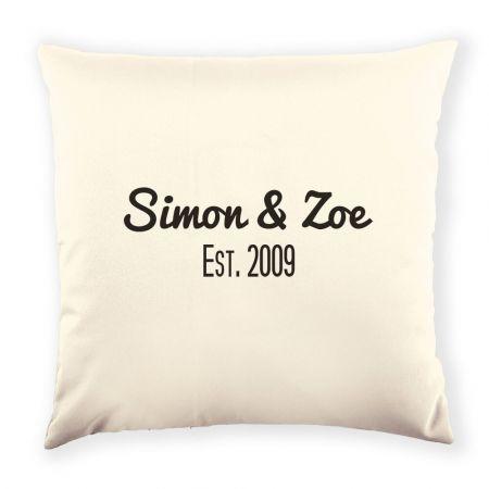 Personalised Est. Cushion