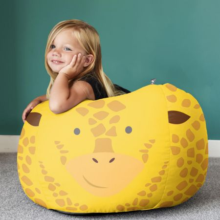 Kids Giraffe Animal Bean Bag