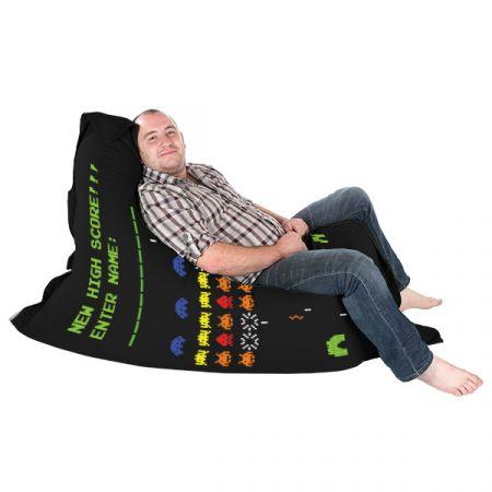 Retro Gamer Squashy Squarbie Bean Bag