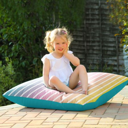 Ombre Stripe Floor Cushion - Indoor/Outdoor