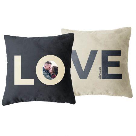 Personalised Pair of Love Cushions