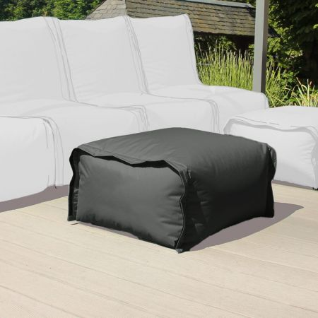 Zip2 Modular Outdoor Furniture Pouffe - Grey