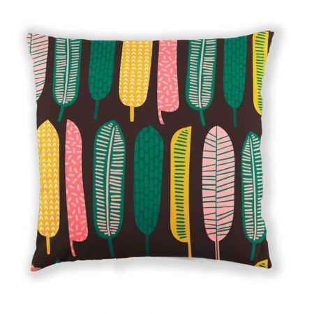 Tropical Leaf Scatter Cushion