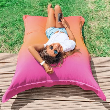 Pink Paradise Giant Squarbie Beanbag - Indoor/Outdoor