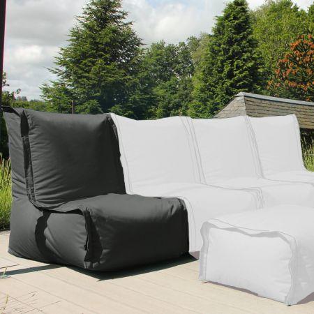 Zip2 Modular Beanbag Furniture in Grey - single chair