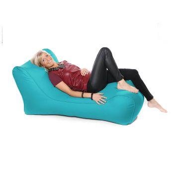Outdoor Solo Lounger Beanbag In Turquoise