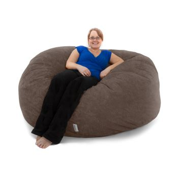 Mocha Jumbo Cord Foam Filled 5 ft Bean bags