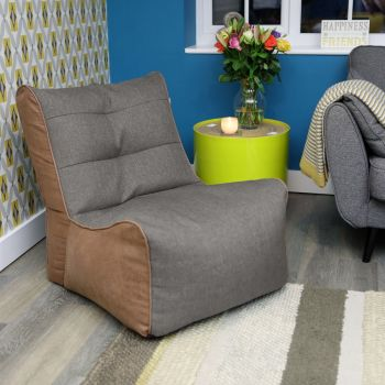 Platinum Barley and Faux Leather Busby Chair