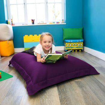 Junior Squashy Squarbie Bean Bag - Purple