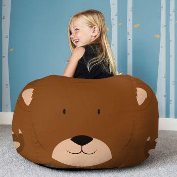 Kids Bear Animal Beanbag - Face