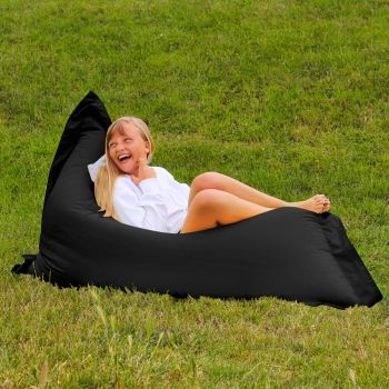 Extra Large Squarbie Adult Beanbag in Black