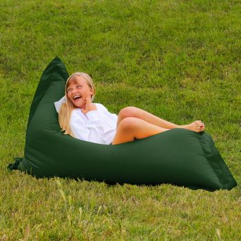 Extra Large Squarbie Adult Beanbag in Bottle Green