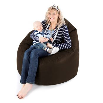 Brown Faux Leather Maternity Bean bags