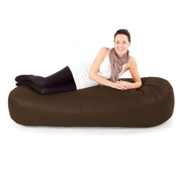 brown Faux Suede Extra Large 6ft Beansofa Lounger