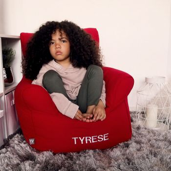 Children's Beanbag Armchair - Red