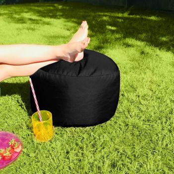 Bigger and Better Indoor/Outdoor Round Black Footstool