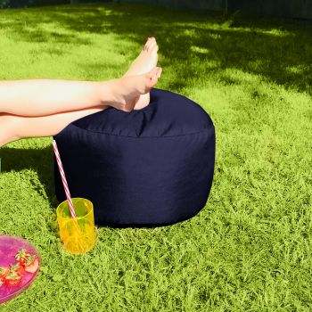 Bigger and Better Indoor/Outdoor Navy Footstool
