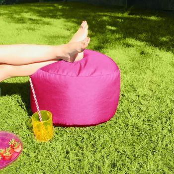 Bigger and Better Indoor/Outdoor Cerise Pink Footstool
