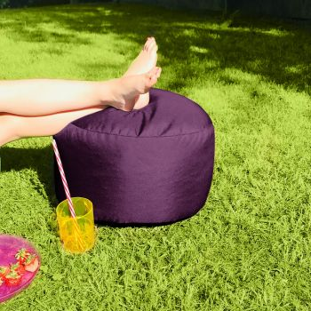 Bigger and Better Indoor/Outdoor Round Purple Footstool