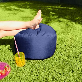 Bigger and Better Indoor/Outdoor Round Royal Blue Footstool