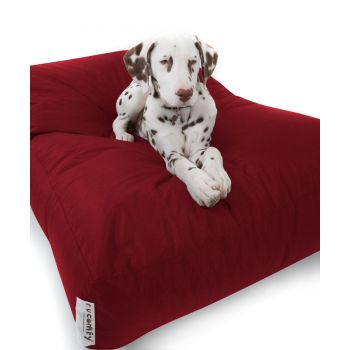 Red Large Faux Suede Pet Bed