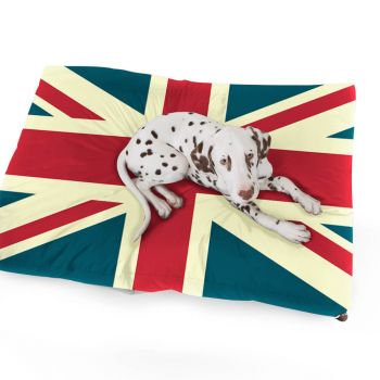 Luxury Faux Suede Union Jack Pet Bed