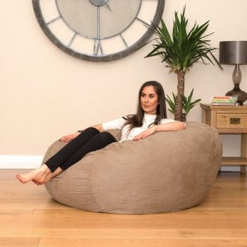 Faux Suede Foam Bean bag with Double Mattress Inner