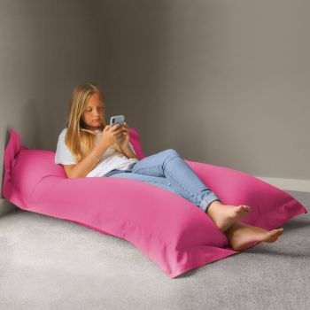 Extra Large Squarbie Adult Beanbag in Cerise Pink