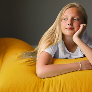 Extra Large Squarbie Adult Beanbag in Yellow