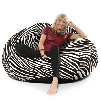 Zebra Luxury Faux Suede Animal Print Extra Extra Large Goliath© Bean bag
