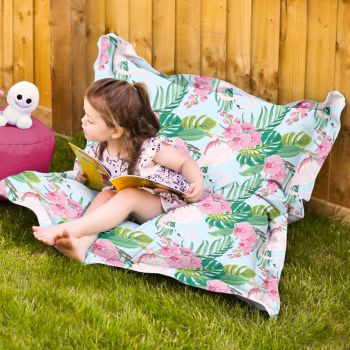 Flamingo Print Junior Squarbie - Indoor/Outdoor fabric