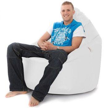 Whopper Bean Chair - Faux Leather - White