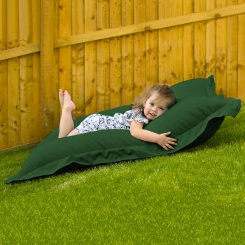 Indoor Outdoor Junior Squashy Squarbie Beanbag in Bottle Green