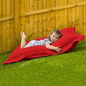 Indoor Outdoor Junior Squashy Squarbie Beanbag in Red