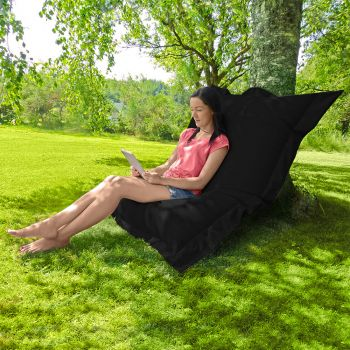 Indoor/Outdoor Squashy Squarbie© Giant Outdoor Black Beanbags