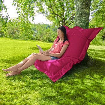 Indoor/Outdoor Squashy Squarbie© Giant Outdoor Cerise Pink Beanbags