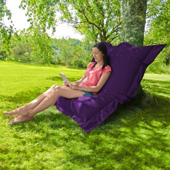 Indoor/Outdoor Squashy Squarbie© Giant Outdoor Purple Beanbags