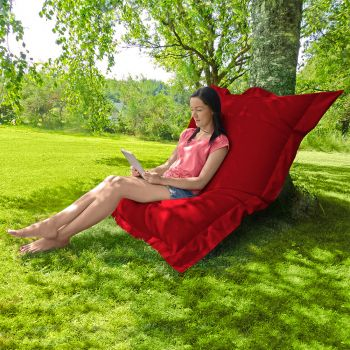 Indoor/Outdoor Squashy Squarbie© Giant Outdoor Red Beanbags
