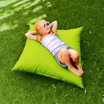 Indoor/Outdoor Lime Green Square Floor Cushion
