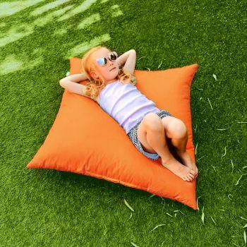 Indoor/Outdoor Orange Square Floor Cushion