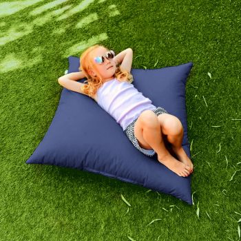 Indoor/Outdoor Royal Blue Square Floor Cushion