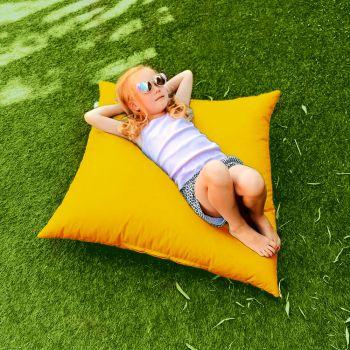 Indoor/Outdoor Yellow Square Floor Cushion